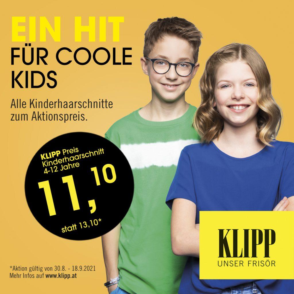 Kinderhaarschnitte zum Aktionspreis bei KLIPP im Stockcity Plaza